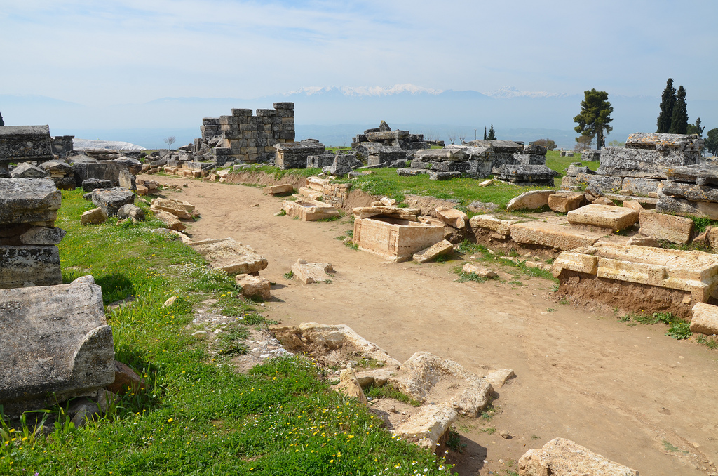 The Northern Necropolis beyond the city walls of Hierapolis.
