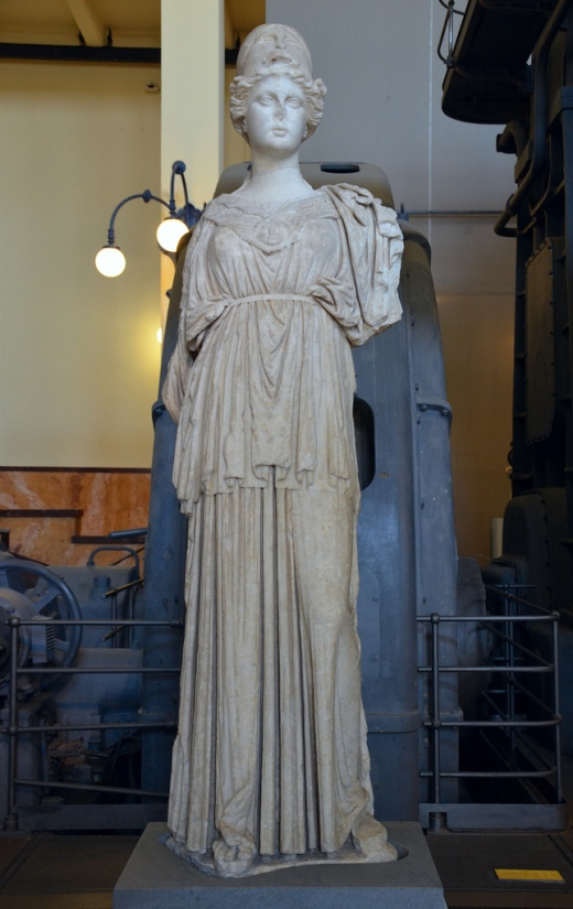 Statue of the so-called Athena of Castro Pretorio, Hellenistic statue (mid 3rd century BC) based on 6th century BC models.