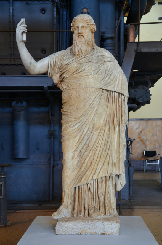 Statue of bearded Dionysus, copy after Greek original of the 2nd half of 4th century BC.