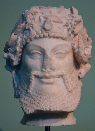 Head of Priapus, refined Augustan version of archaic models dating back to the late 6th century BC, from the Horti Lamiani.