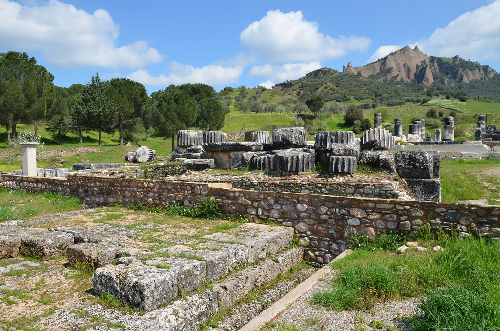View of Lydian Altar and Temple of Artemis.