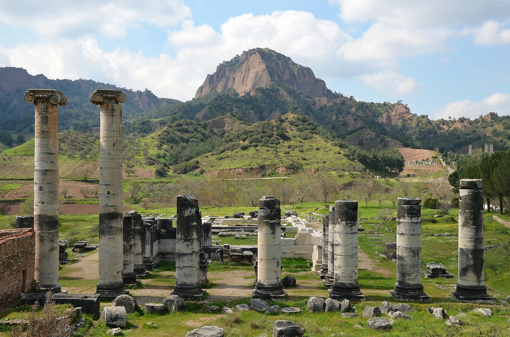 The ruins of the great Ionic Temple of Artemis, one of the largest in the world.