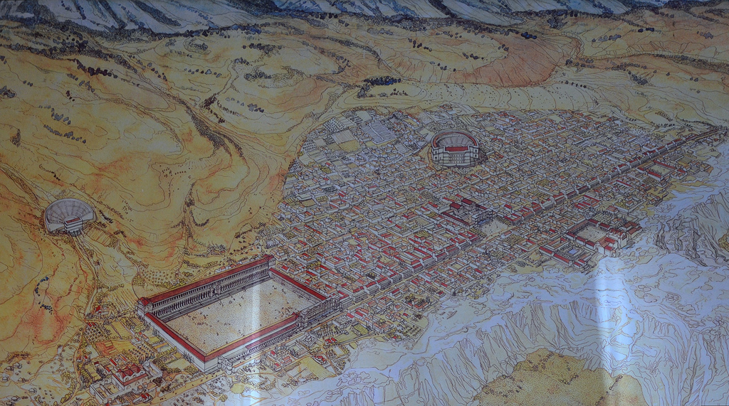 Visualisation of Hierapolis in the 3rd century AD (Prof. Francesco D'Andria).