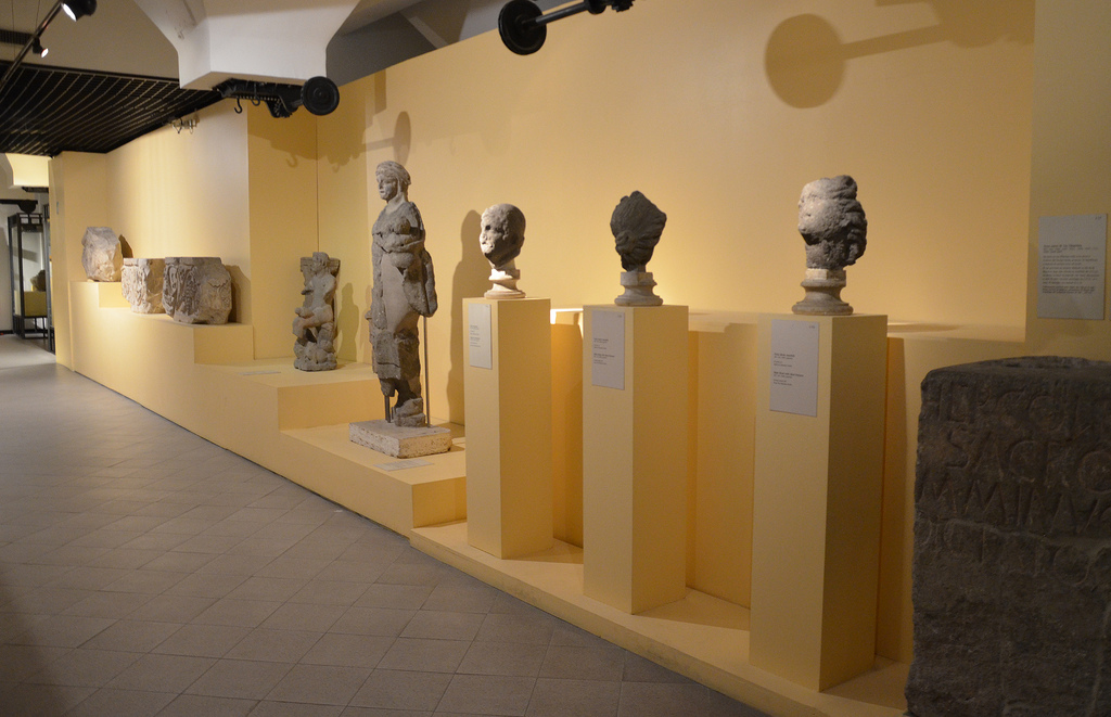 Architectural decorations from the Republican era and sculptures in Peperino tufa.