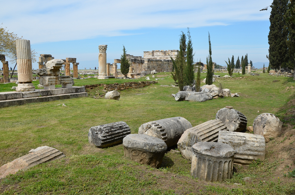 The west-side of the Agora built in the 2nd century AD during the reign of Hadrian.