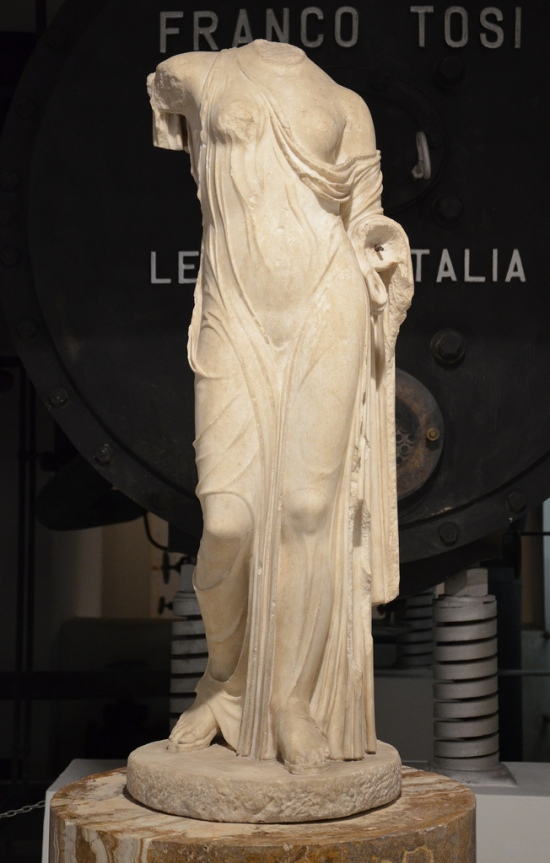 Statue of Aphrodite, replica of the Aphrodite carved by Kallimachos at the end of the 5th century BC, from the Esquiline Hill.