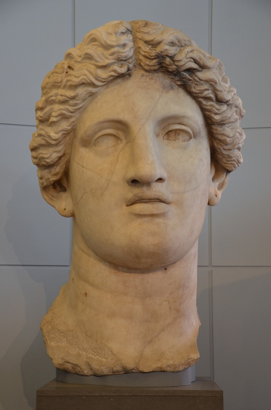 Colossal head of Fortuna Huiusce Diei, from an acrolith statue with uncovered parts in marble and the drapes in bronze, it was meant to be 8m high and dates back to 101 BC, from the sacred area in Largo Argentina.