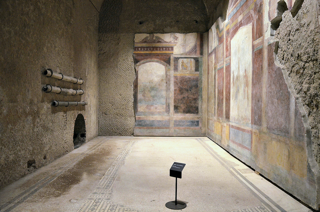 "The tablinum of the House of Livia, also known as the ""Room of Polyphemus"". The tablinum of the House of Livia, also known as the ""Room of Polyphemus""."