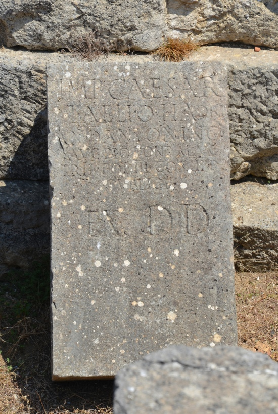 Inscription dedicated to Antoninus Pius in 140 AD.