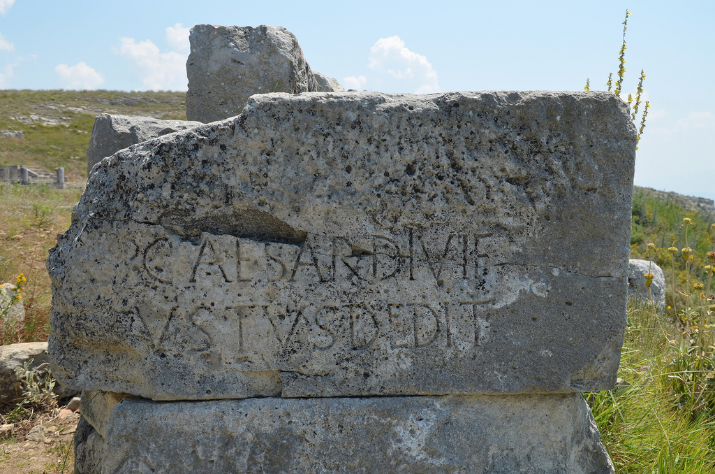 The Gate of the Agora with an inscription dedicated to Augustus, Byllis, Albania