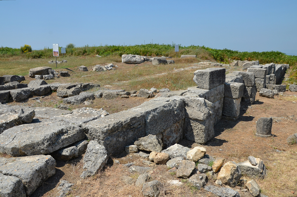 The ruins of the Prytaneion measuring 20,10 x 5,80 m. It was the seat of the Prytaneis (executive).