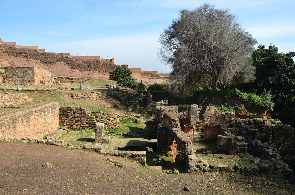 The public baths of Sala located at the intersection of the decumanus maximus and the cardo maximus.