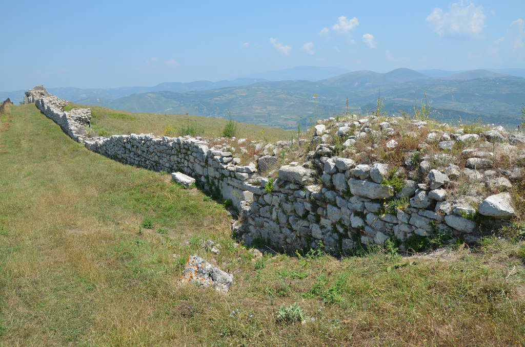 The Byzantine City Walls built in opus incertum by Victorinus after the destruction of the city by the Slavs in 547-551 AD.