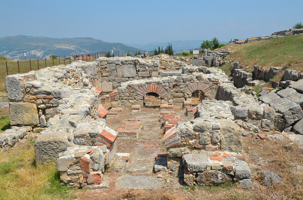 The Baths of Justinian I, its structure included the apodyterium (dressing room), frigidarium (cold room), tepidarium (warm room), caldarium (hot room) and sudatio (sweat room).