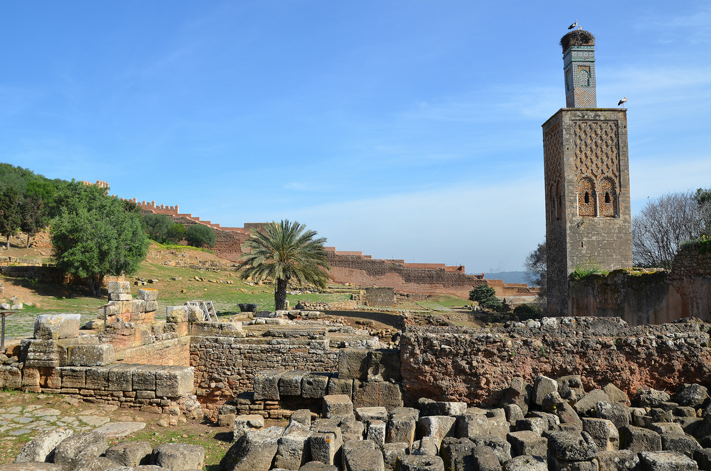 The ruins of the Curia Ulpia adjoining the basilica. The epithet Ulpia recalls the solicitude of Emperor Trajan, who undoubtedly granted financial aid to the local senate to erect the building.