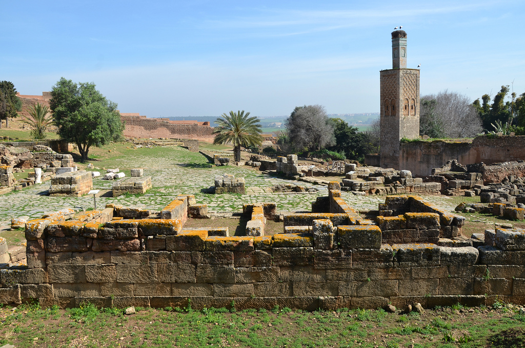Roman ruins of Sala with 13th century minaret.
