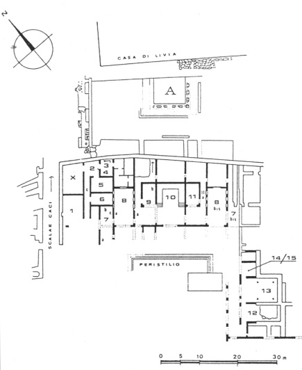 Plan of the House of Augustus.