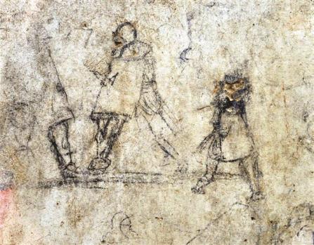 The graffiti showin gladiators [Credit: DHA]